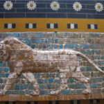 Lion, Neo-Babylonian glazed brick design